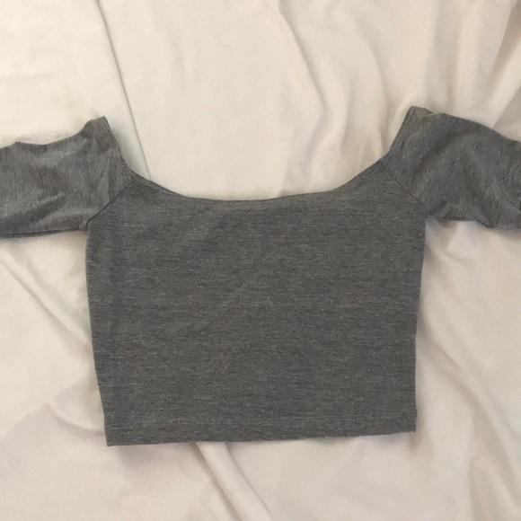 American Apparel Tops - American apparel off the shoulder crop top